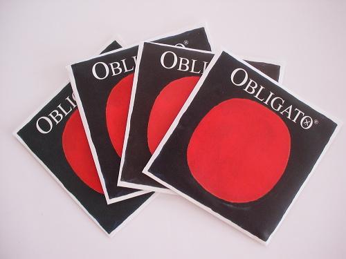 Pirastro Obligato オブリガート 3/4〜4/4サイズ 4弦セット