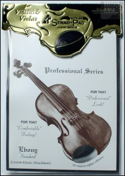 画像1: バイオリン・ビオラ用 アゴ当てパッド◆Strad Pad 黒◆1/2〜4/4サイズ用