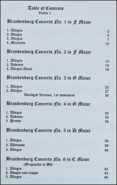画像1: ブランデンブルグ協奏曲 全6曲◆弦楽四重奏(2VN・VA・CL) カルテット 定番♪