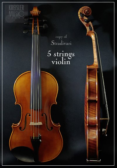 画像1: GCV-500A 5弦バイオリン◆C弦プラスで音域拡張!◆ストラディバリモデル