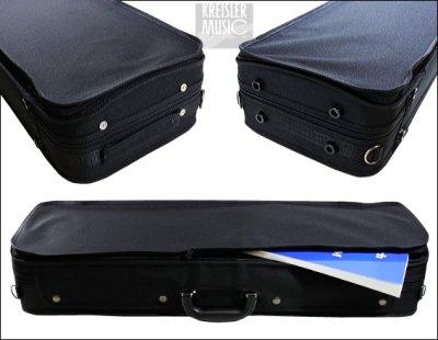画像1: 角型 バイオリンケース◆ 軽量 ◆Jasper 黒 1/2〜4/4サイズ