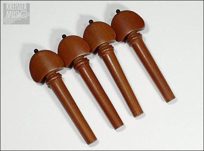 画像1: バイオリン用 糸巻き(ペグ)◆本柘(つげ)◆Hillスタイル 4本セット