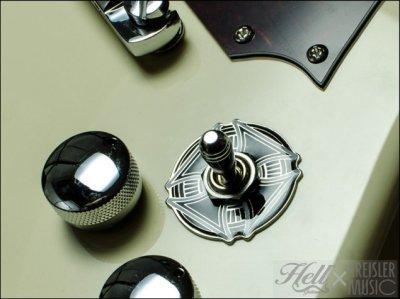 画像2: トグルスイッチプレート Gibson(ギブソン)/Epiphone(エピフォン)など対応◆Surfer's Cross
