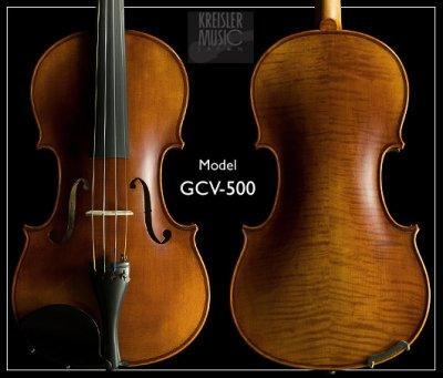 画像1: GCV-500A 高級バイオリンセット◆ストラディバリモデル(ペルナンブーコ弓付き)◆7/8、4/4サイズ
