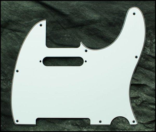 画像1: ギター ピックガード◆テレキャスタータイプ 白/黒/白 3ply 8点止め◆Hell Guitars (1)