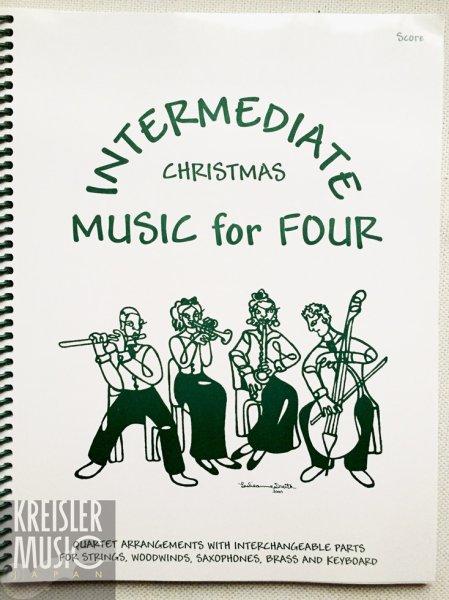 画像1: 【スコア譜】「クリスマス曲集 やさしい弦楽四重奏(2VN・VN/VA・CL)カルテット」用◆全パートが一目瞭然♪ (1)