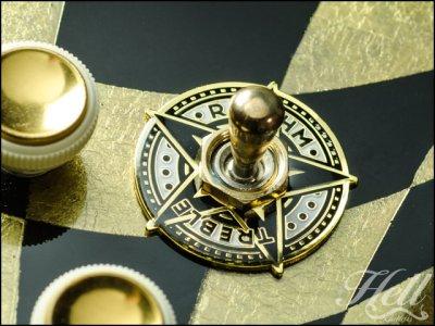 画像1: トグルスイッチプレート Gibson(ギブソン)/Epiphone(エピフォン)など対応◆STAR ゴールド