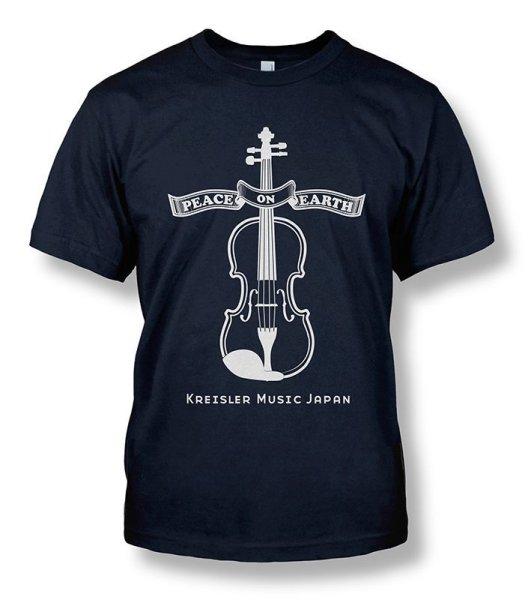 画像1: KMJオリジナル Tシャツ◆バイオリン Peace on Earth◆XS,S,M,L,XL 子供用 各種サイズあり! (1)