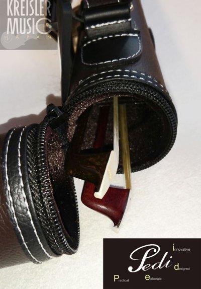 画像2: 弓ケース◆PEDI 2本収納 オールマイティー(バイオリン・ビオラ・チェロ弓用)◆おしゃれな筒型 ブラウン革調