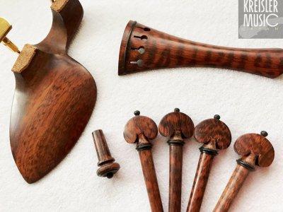 画像2: ビオラ用 フィッティングセット◆スネークウッド 美しい斑の希少木材!