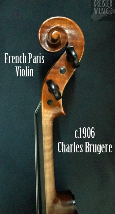 画像2: フランス製オールド◆バイオリン Paris c.1906 Charles Brugere
