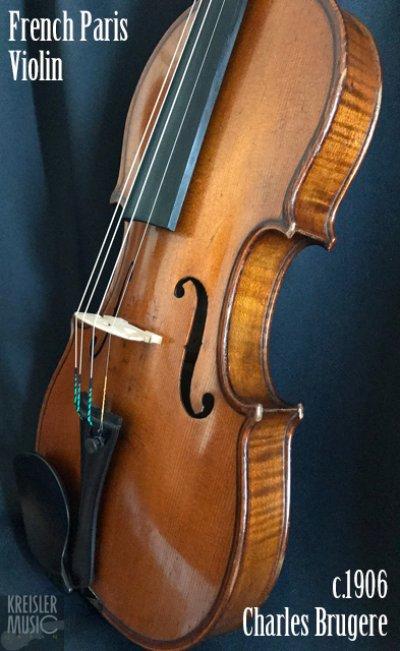 画像3: フランス製オールド◆バイオリン Paris c.1906 Charles Brugere