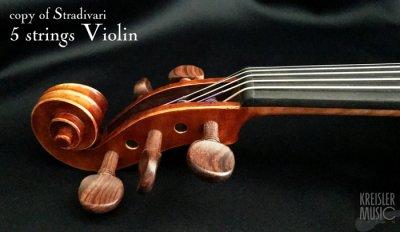 画像3: GCV-500A 5弦バイオリン◆C弦プラスで音域拡張!◆ストラディバリモデル