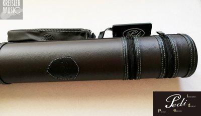 画像1: 弓ケース◆PEDI 1本収納 コントラバス弓用(独・仏対応)◆おしゃれな筒型 ブラウン革調