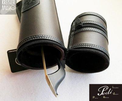 画像2: 弓ケース◆PEDI 1本収納 コントラバス弓用(独・仏対応)◆おしゃれな筒型 ブラウン革調