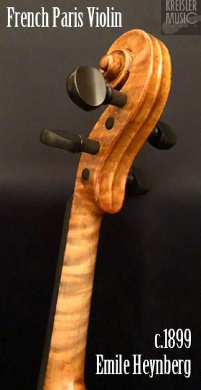 画像2: フランス製オールド◆バイオリン Paris c.1899 Emile Heynberg 7/8サイズ