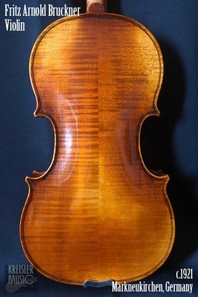 画像1: ドイツ製オールド◆バイオリン Germany c.1921 Fritz Arnold Bruckner