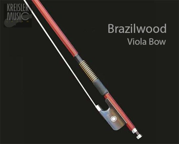 画像1: ビオラ弓◆上質ブラジルウッド◆フェイク鯨髭巻き (1)