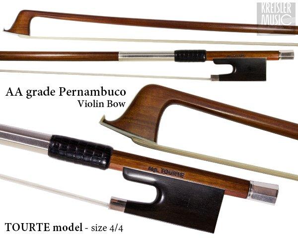 画像1: バイオリン弓◆最上質AAペルナンブーコ◆トルテモデル 刻印入り IX (1)