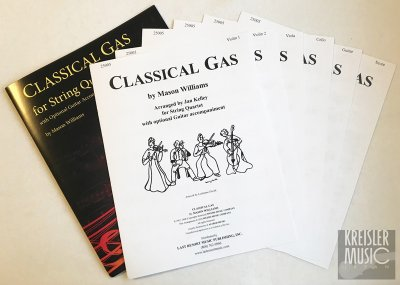 画像1: クラシカル・ガス◆四重奏 2バイオリン&ビオラ&チェロ◆ギターパーツ、スコア付き!