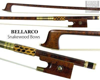 画像3: チェロ弓◆Bellarco 最上質スネークウッド◆赤銅(Copper) パリジャンアイ