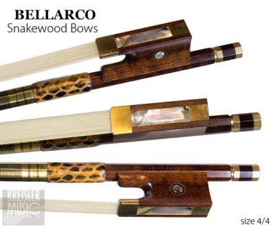画像2: チェロ弓◆Bellarco 最上質スネークウッド◆赤銅(Copper) パリジャンアイ