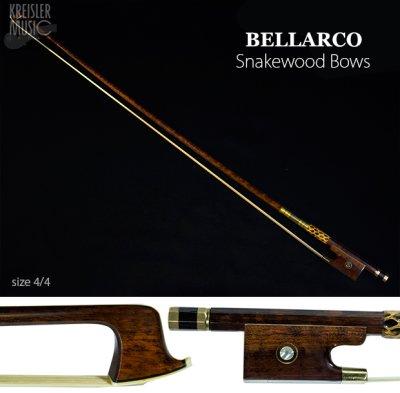 画像1: チェロ弓◆Bellarco 最上質スネークウッド◆赤銅(Copper) パリジャンアイ