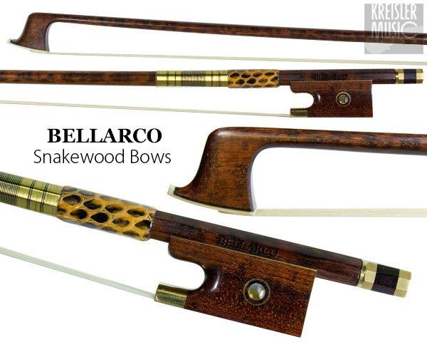 画像1: バイオリン弓◆Bellarco 最上質スネークウッド◆赤銅(Copper) パリジャンアイ (1)