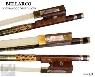 画像2: バイオリン弓◆Bellarco 最上質スネークウッド◆赤銅(Copper) パリジャンアイ