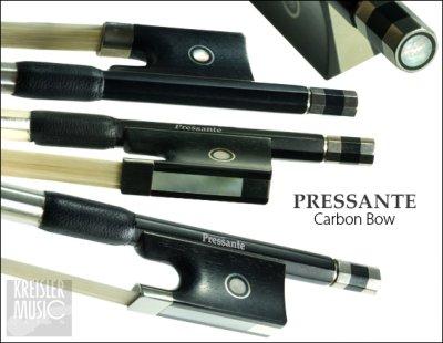 画像1: チェロ弓◆PRESSANTE 良質カーボン◆白銅仕様 4/4サイズ