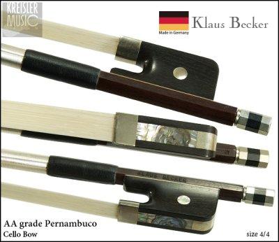 画像1: チェロ弓◆ドイツ製◆Klaus Becker 最上質AAペルナンブーコ