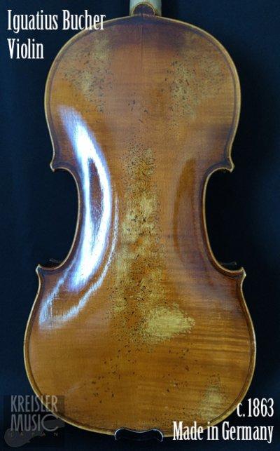 画像1: ドイツ製オールド◆バイオリン Germany c.1863 Iguatius Johannes Bucher