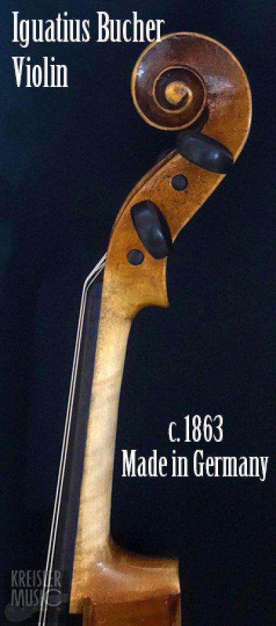 画像3: ドイツ製オールド◆バイオリン Germany c.1863 Iguatius Johannes Bucher