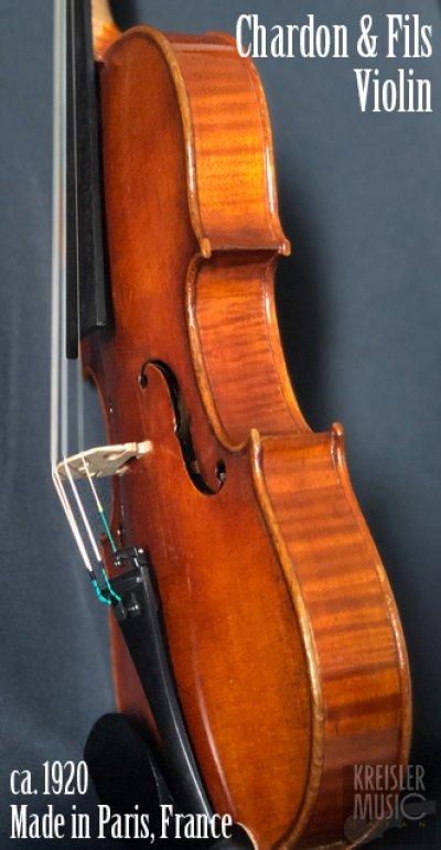 画像2: フランス製オールド◆バイオリン Paris ca.1920 Chardon&Fils 7/8サイズ