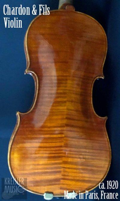 画像1: フランス製オールド◆バイオリン Paris ca.1920 Chardon&Fils 7/8サイズ
