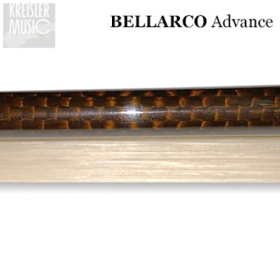 画像3: チェロ弓◆Bellarco Advance 厳選ブラウンカーボン◆イリス紋章・白銅仕様 4/4サイズ