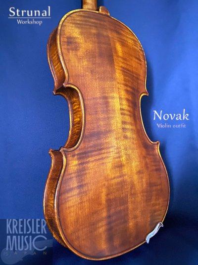 画像2: Strunal ◆高級バイオリンセット Novak (ペルナンブーコ弓付き)アンティーク仕上げ◆チェコ製 4/4サイズ