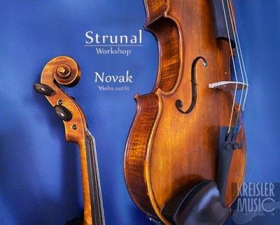 画像3: Strunal ◆高級バイオリンセット Novak (ペルナンブーコ弓付き)アンティーク仕上げ◆チェコ製 4/4サイズ