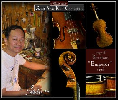 画像2: バイオリン◆Scott Cao作◆1715 Emperor ストラディバリ◆裏一枚板
