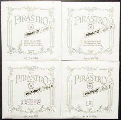 画像1: バイオリン弦 38%オフ!◆ピラニート Pirastro Piranito◆4/4サイズ 4弦セット