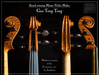 画像3: バイオリン◆T.T.Gao 2007年作◆1715 Cremonese(モダン仕上げ)
